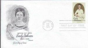 1971, Emily Dickinson, Artmaster, FDC (D14001)