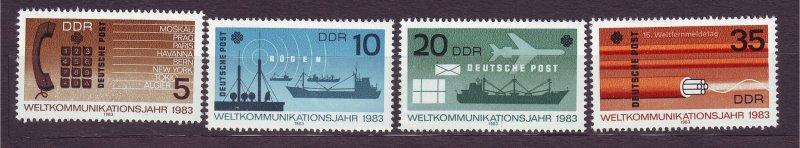 J23257 JL stamps 1983 DDR germany set mnh #2319-22 communications