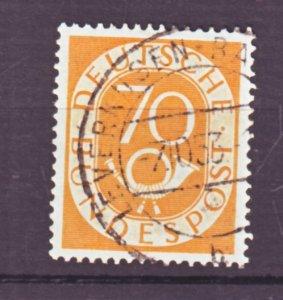 J22450 Jlstamps 1951-2 germany hv of set used #683 posthorn