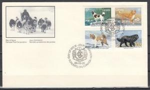 Canada, Scott cat. 1217-1220. Kennel Club Centenary issue. First day cover. ^