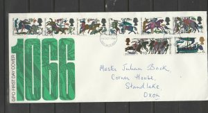 GB FDC 1966 Hastings Ord, Illus, Hastings FDI, Hand addressed