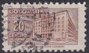 Colombia #602  F-VF Used  CV $4.50  (Z6276)