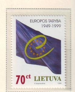 Lithuania Sc 630 1999 50th anniv Council of Europe stamp ...