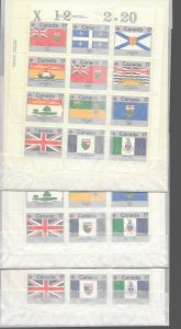 Canada 832a MNH sheet of 12 x 3, vf see desc. 2020 CV$12.00