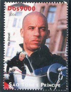 Sao Tome & Principe 2004 VIN DIESEL American Actor 1v Perforated Mint (NH)
