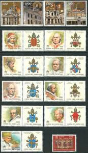 VATICAN Sc#1137-1171 Eleven Sets & 1 S/s 2000 Year Complete Mint OG NH