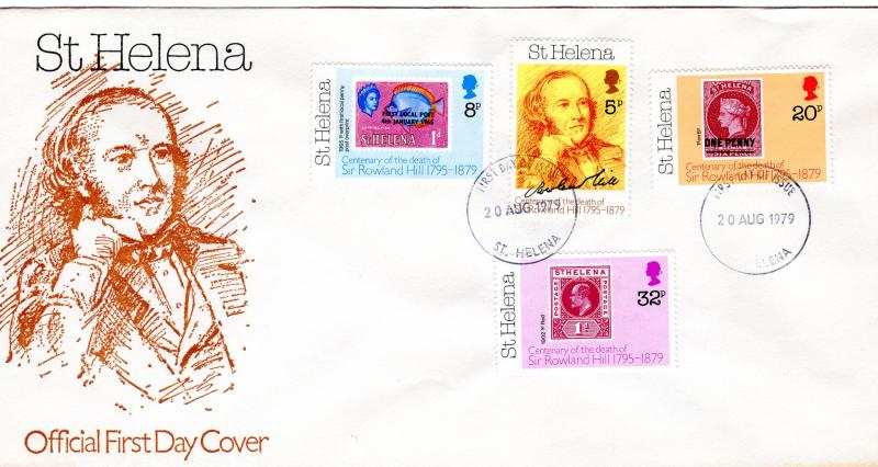 St.Helena 1979 Stamp on Stamp/Rowland Hill Set (4) FDC