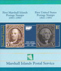 Marshall Islands # 631-637, First Marshall Islands & U.S. Stamps, NH, 1/2 Cat.