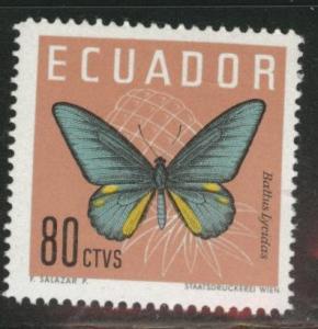 Ecuador Scott 683 MNH** buttrerfly stamp