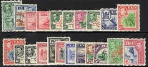 FIJI SG249/66b 1938-55 DEFINITIVE SET MTD MINT
