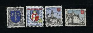 Slovakia  4 different used PD