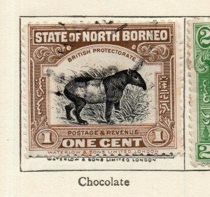 North Borneo 1909 Early Issue Fine Used 1c. NW-113835