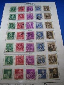 UNITED STATES 1940 - SCOTT # 859-893  Used
