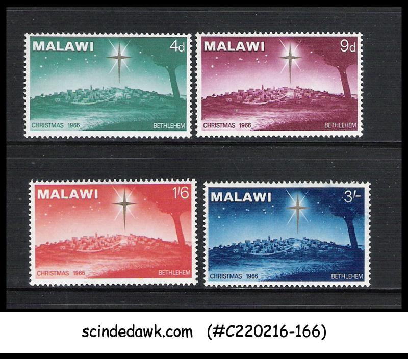 MALAWI - 1966 CHRISTMAS - 4V - MINT NH