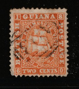British Guiana an 1860 2c used, see description