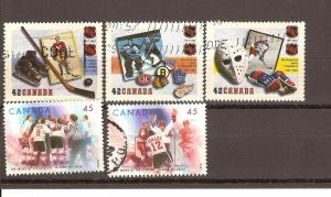 CANADIAN SET ON HOCKEY USED STAMPS  LOT#77