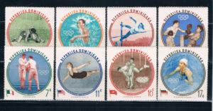 Dominican Republic 525-29;C115-17 MNH set Winners 1956 Olympics (D0045)