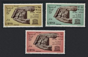 Libya Nubian Monuments Preservation 3v SG#363-365