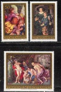 Liechtenstein  # 595-7, Mint Never Hinge. CV $ 8.90