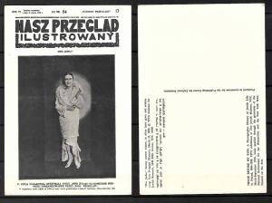 JUDAICA POLAND 1929 WINNER OF 1st & ONLY BEAUTY CONTEST MISS JUDEA PC 1976