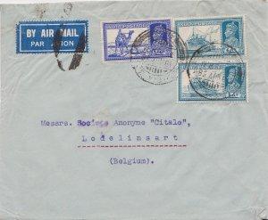 India 3a6p KGVI Dak Camel and 6a KGVI Mail Steamer (2) 1938 Calcutta G.P.O., ...