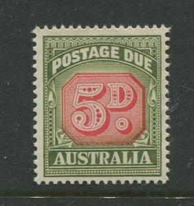 Australia - Scott J90 - Postage Due Issue -1958- No Wmk - MNH -Single 5d stamp