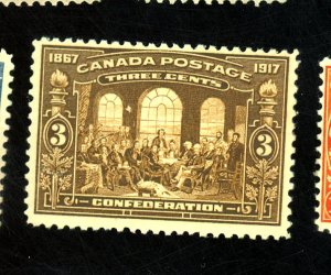Canada #135 MINT FVF OG NH Cat$120 Small Brown Offset on Gum