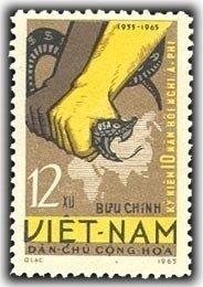 Vietnam 1965 MNH Stamps Scott 346 Snake Africa Asia Conference Propaganda