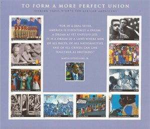 US Stamp 2005  More Perfect Union - Equal Rights 10 Stamp Sheet #3937