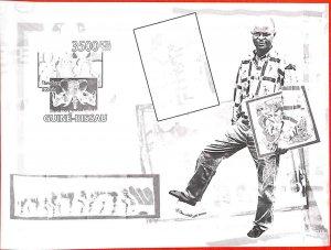 A0843 - GUINEA-BISSAU - ERROR   IMPERF SHEET - African ART Theodore Asshola 2009