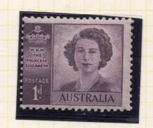 Australia 1947 Early Issue Fine Mint Hinged 1d. 223600