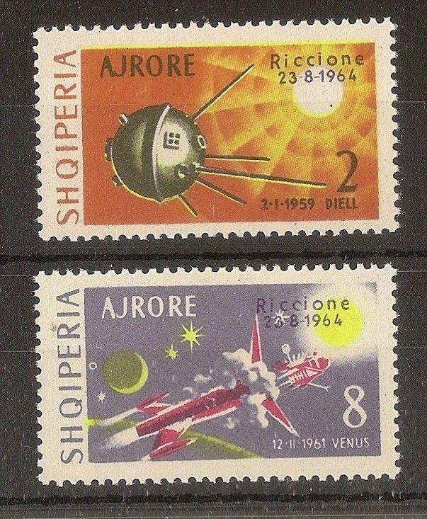 Albania 1964 Airs Space Exhibition SG840-841 MNH Cat£39