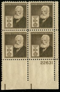 US #893 PLATE BLOCK SUPERB mint never hinged,  10c Bell, the KEY  to the set,...