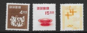 Ryukyu 31-33 1954 set 3 VF  NH