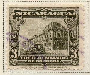 Nicaragua 1914-22 Early Issue Fine Used 3c. 323628