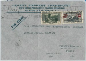 56380 -  LEBANON Liban -  POSTAL HISTORY -  AIRMAIL COVER to  ITALY  1939