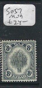 MALAYA KEDAH  (P2206B) LEAF  8C  SG 57   MOG