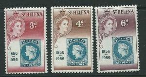 ST.HELENA SG166/8 1956 STAMP CENTENARY  MNH