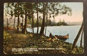 1909 Postcard Cover Alaska Yukon Canoe US Navy USS Washington to Philadelphia PA
