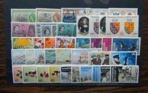 Turks & Caicos Islands 1955 set Letters Vessels Coral Uniforms Space Pirates LMM