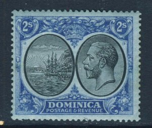 DOMINICA King George V 1923 Two Shillings Black & Blue on Blue SG 84 MINT