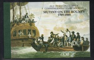 Isle of Man 1989 Mutiny on the Bounty stamp booklet mint NH