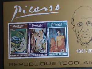 TOGO STAMP 1974-SC#C217-9 FAMOUS PAINTER PICASSO-NUDE PAINTINGS MNH-S/S VF