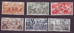 J23807 JLstamps 1946 WWll french martinique set mnh #c4-9 military