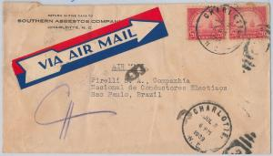 52476 -  UNITED  STATES -  POSTAL HISTORY: AIRMAIL COVER to BRAZIL 1939