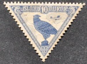 DYNAMITE Stamps: Iceland Scott #C3 – MINT hr
