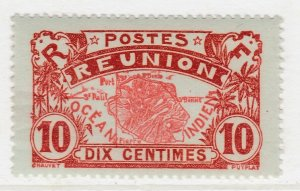 French Colony Reunion 1907-30 10c MH* Stamp A20P48F2756