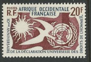 French West Africa # 85   UN Human Rights Declaration (1) Mint NH