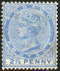 TOBAGO-1882-84 2½d Bright Blue Sg 16a MOUNTED MINT V48452