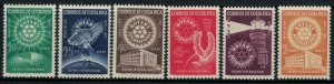 Costa Rica #C246-51*  CV $3.05  Rotary International issue